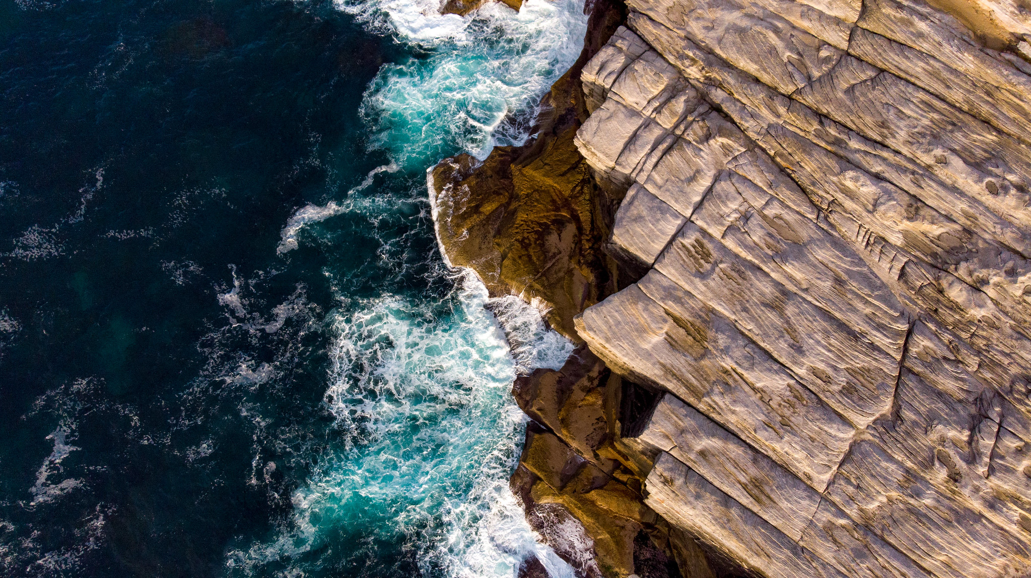 Cliff side photo from drone